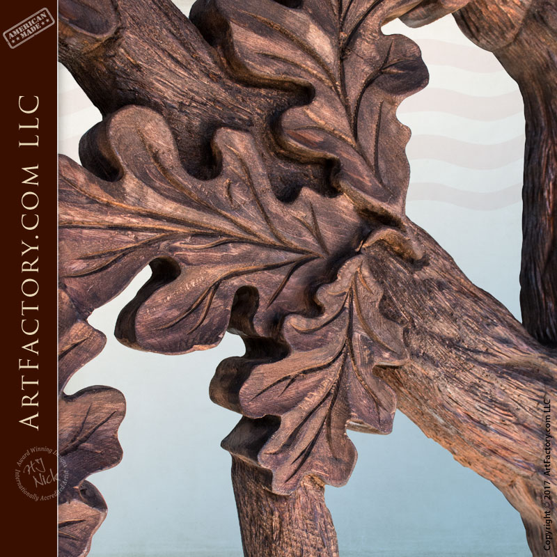 Hand carved cabin entrance door custom deer in woods theme